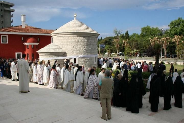 В Баре освятили храм в честь последнего духовного правителя Черногории
